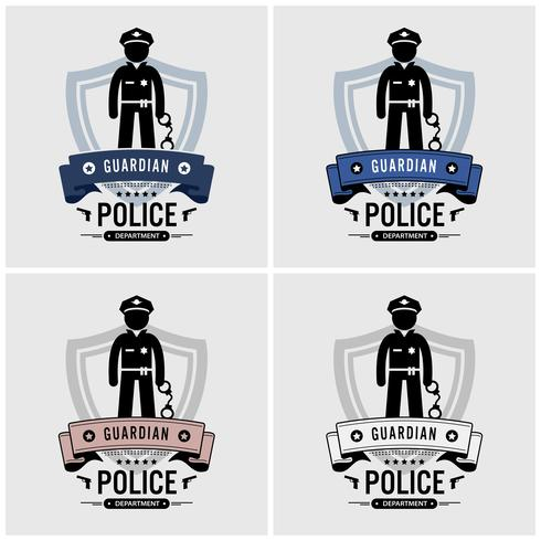 Diseño de logotipo policial.