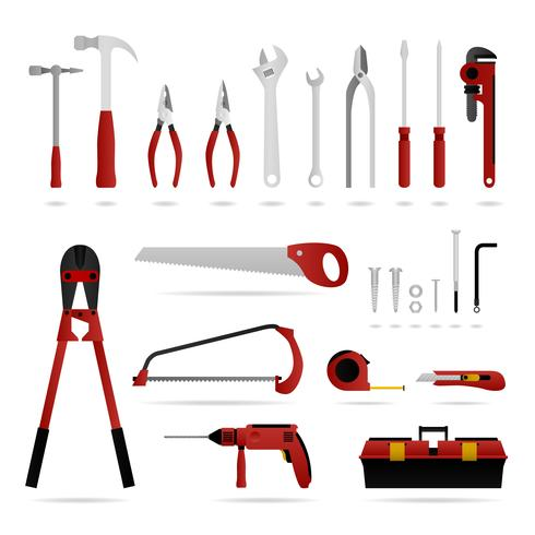 Set van hardware tool. vector