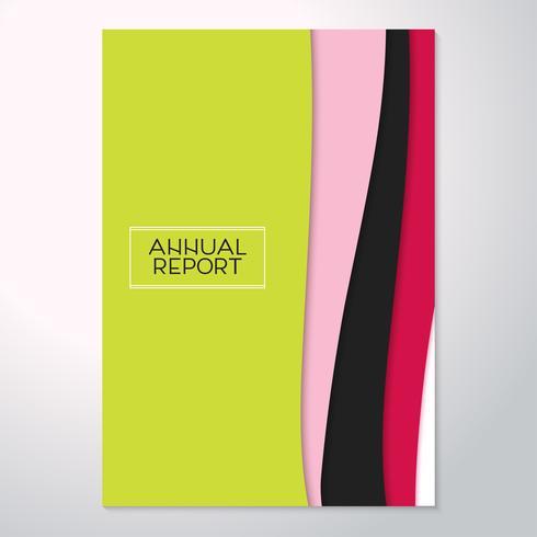 Moderno volantino astratto, relazione annuale. Design dei materiali di tendenza