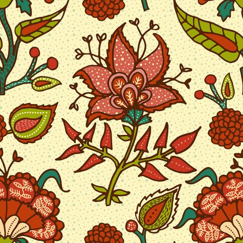 Indian National paisley ornament for cotton, linen fabrics. vector
