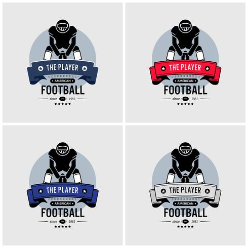 American football club logo design.  vector