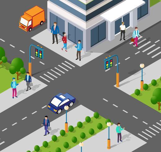 Moderne 3D-stad