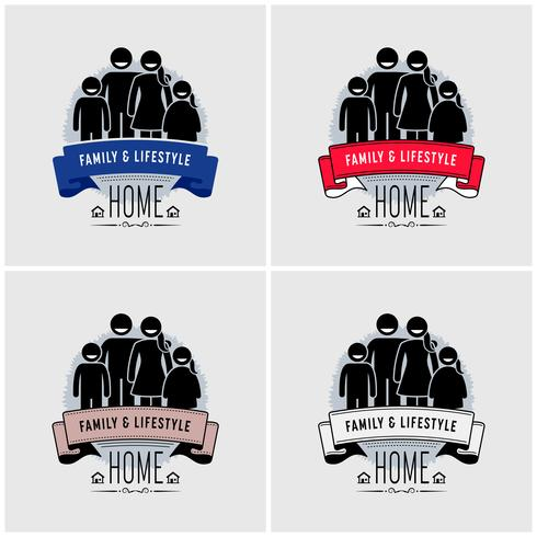 Family value logo design.  vector