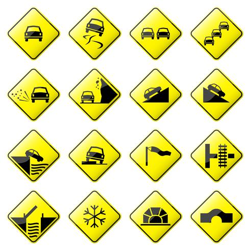 Road Sign Glossy Vector.  vector