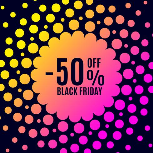 Black Friday sale. Halftone dots