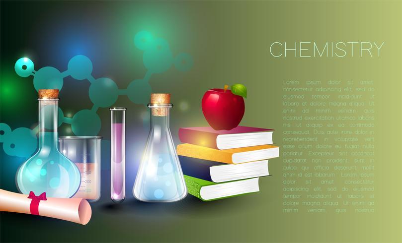 Ilustração do conceito de educação e ciência. vetor