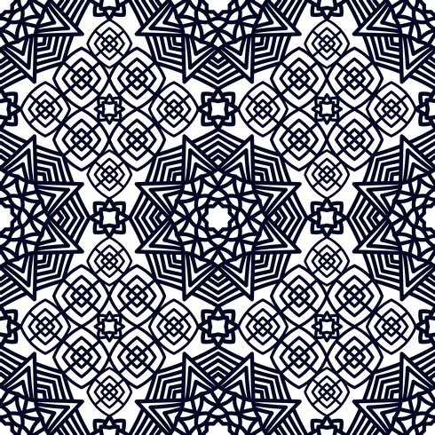 Square Pattern panel for laser cutting with mandalas. vector