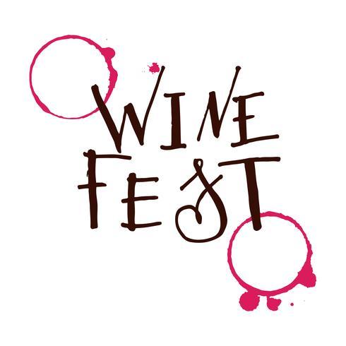 Lettering for wine fest.