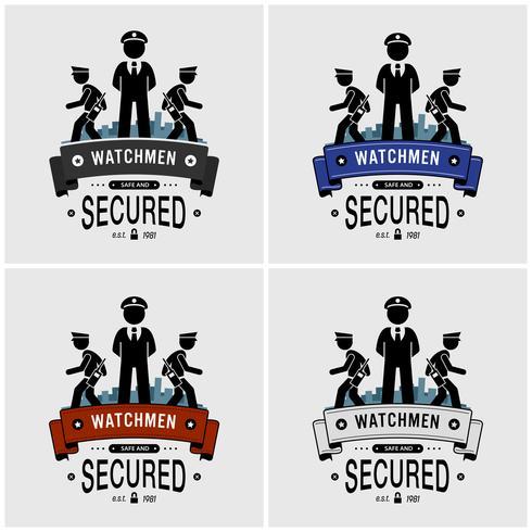 Security guards logo design.  vector