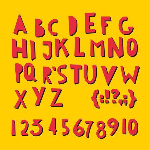 ABC latim letras e números. vetor