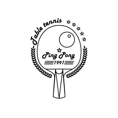 League Table Tennis. Ping pong vector