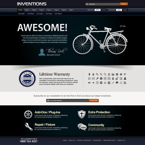 Plantilla de elemento de sitio web de diseño web. vector