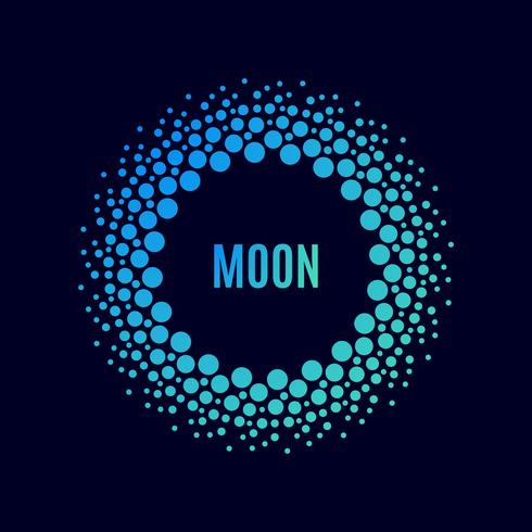 poster Luna. Halftone vector