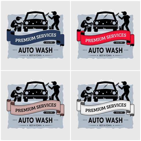 Car wash logo design.  vector