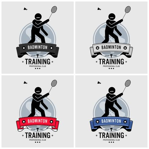 Badminton club logo ontwerp.