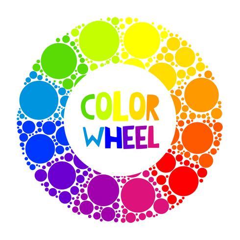 Rueda de color o círculo de color.