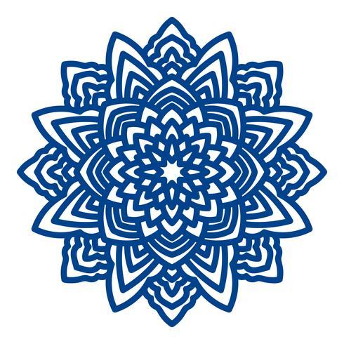Mandala-Laserschneiden für Papierservietten.