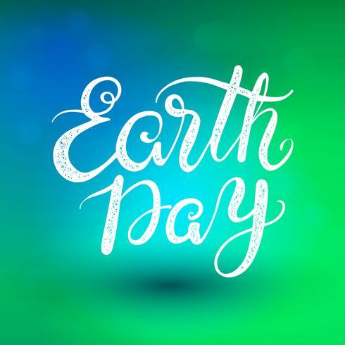 La frase Earth Day. lettering