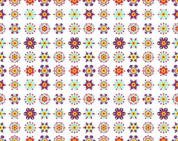 Seamless pattern of vintage yellow flowers.  vector