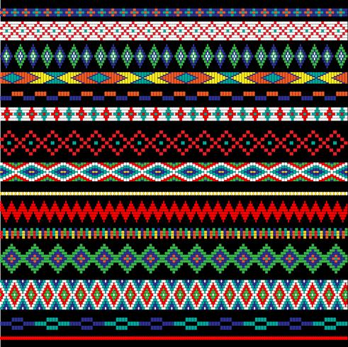 Native American bead border patterns