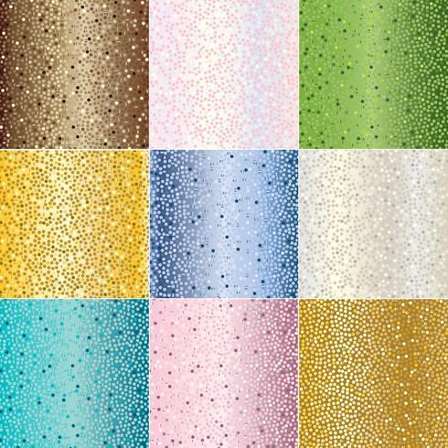 texturas de fondo de puntos metálicos vector