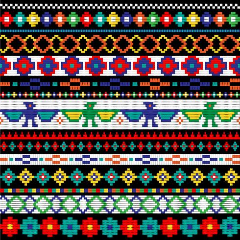 Native American beaded border mönster