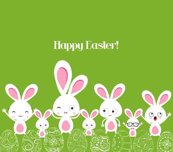 buona Pasqua con coniglietto vettore