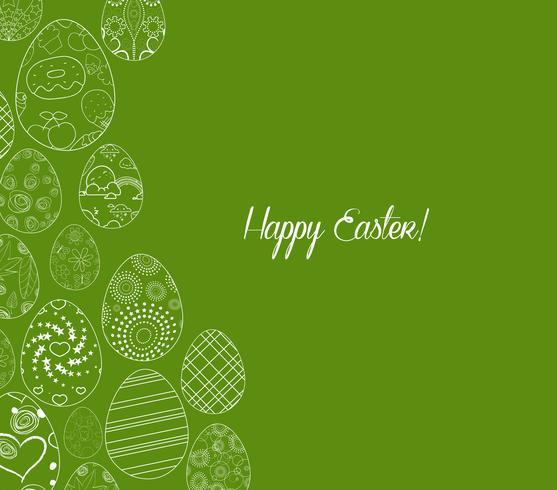 fundo de ornamento de ovos de Páscoa feliz