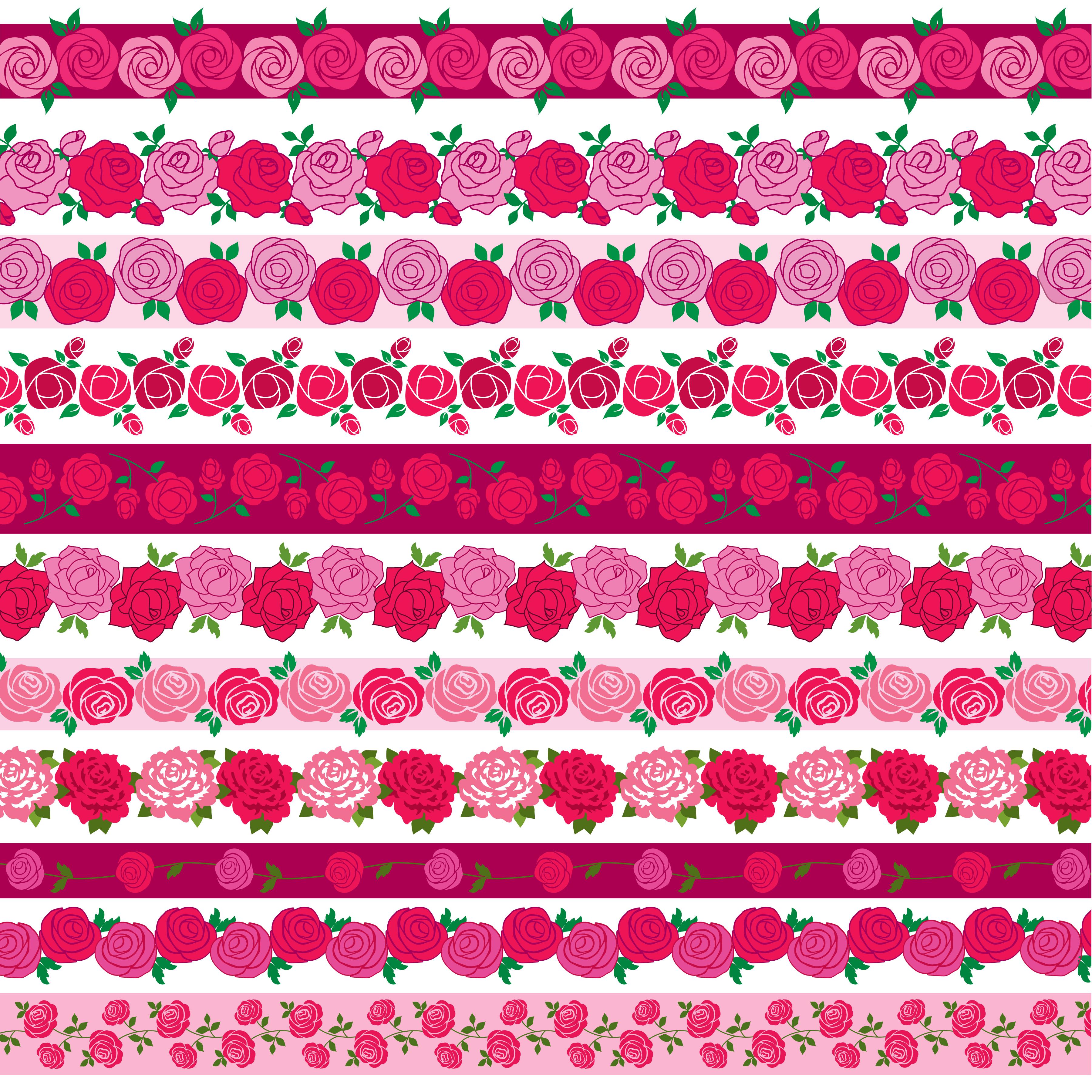 rose border patterns - Download Free Vectors, Clipart Graphics & Vector Art