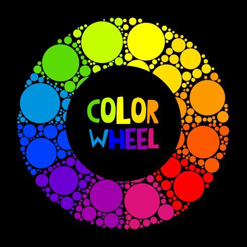 Rueda de color o círculo de color sobre fondo negro