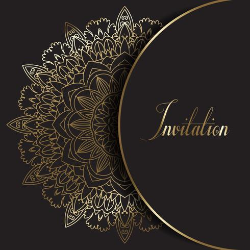 Invitation au design décoratif Mandala