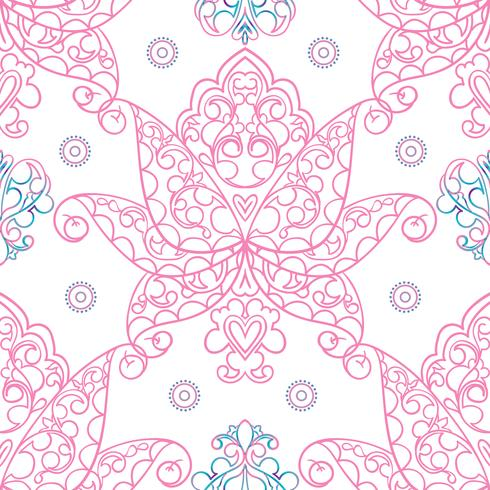 Seamless patterns Russian motives of northern painting vector