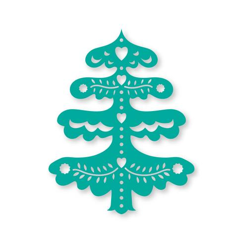 Christmas tree. Laser cutting template  vector