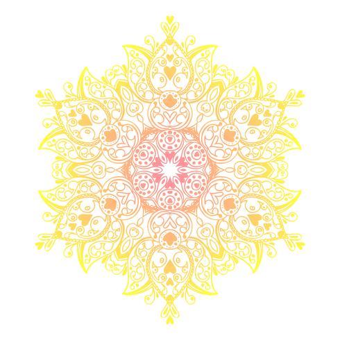 Mandala-Banner im indischen Stil. vektor