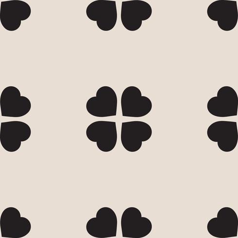 motif avec des feuilles de trèfle, symbole de la Saint-Patrick