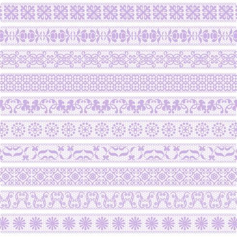 Lavendelspitze-Randmuster