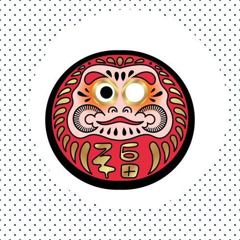 Poupée traditionnelle japonaise Daruma