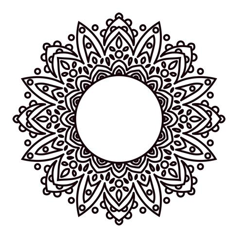 Mandalas. Ethnic decorative elements in a circle.