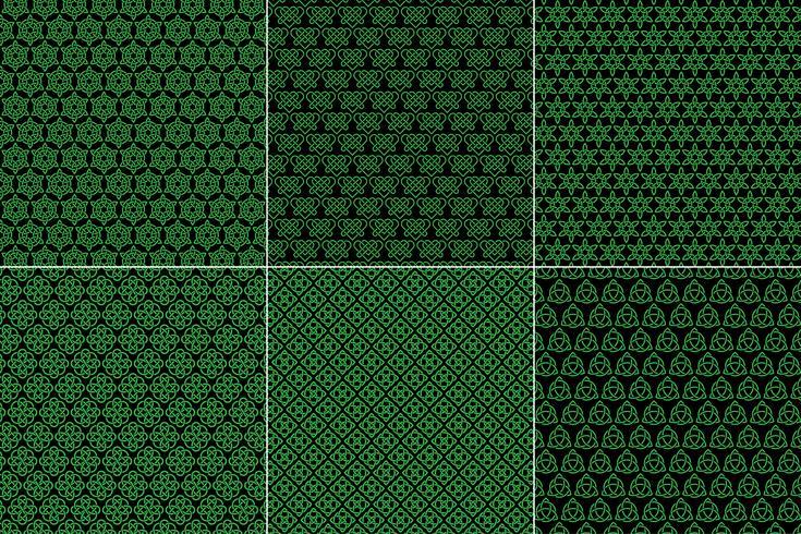 Keltische Knoten-Muster auf schwarzem Hintergrund vektor