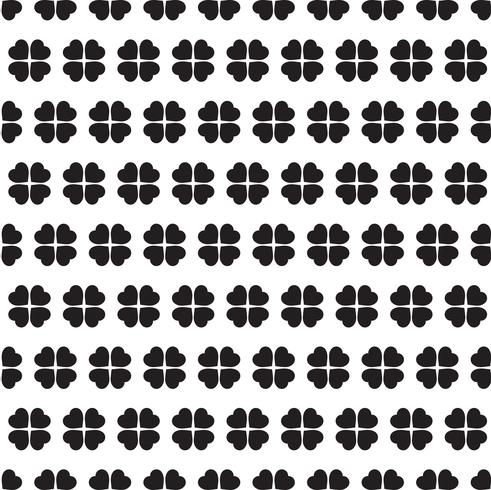 Monochrome seamless pattern with clover leaves vector