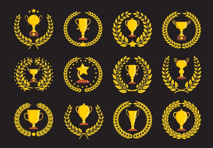 Campeones de trofeos iconos.