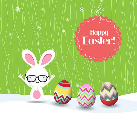 feliz Páscoa coelho e ovos fundo