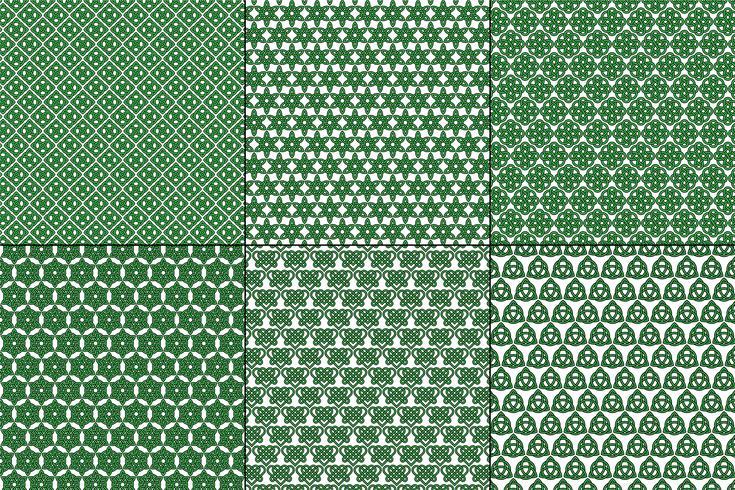 Keltische Knoten-Muster auf weißem Hintergrund