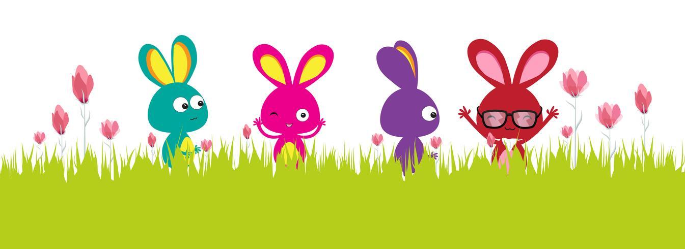 Feliz Páscoa. Banner de primavera