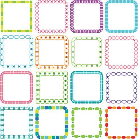 Mod Vierkante Frames Clipart