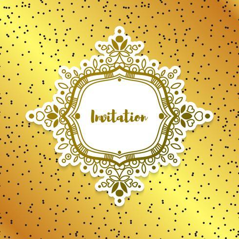Invitaciones de boda ricas, oro. vector