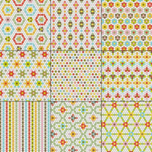 motifs de tuiles hexagonales