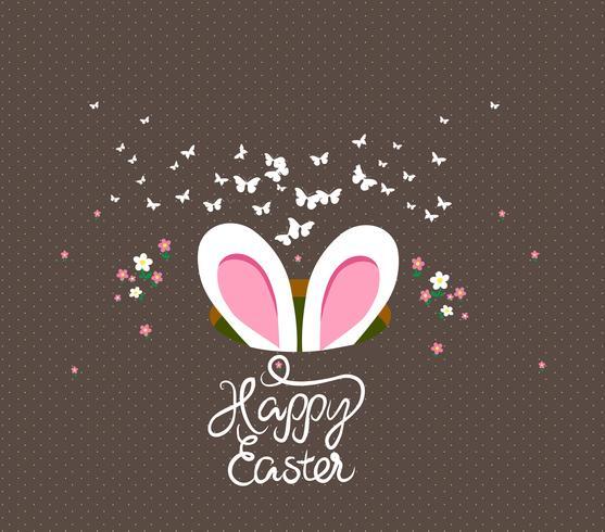 glückliche Ostereier und Häschengrußkarte