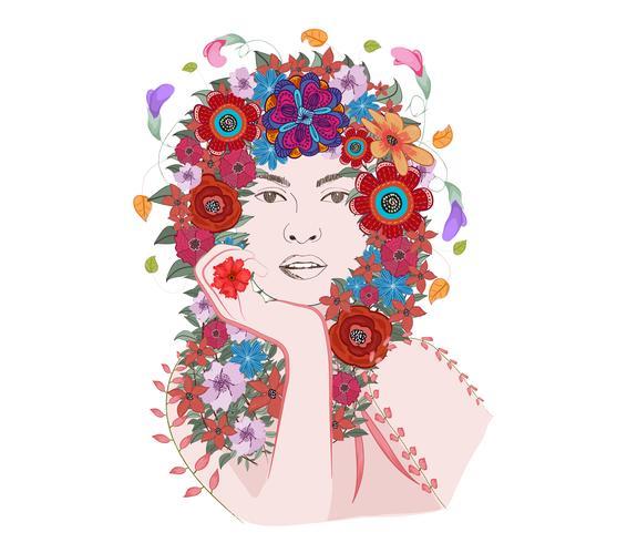 Frühling Zeit Fantasy. florale Seele.