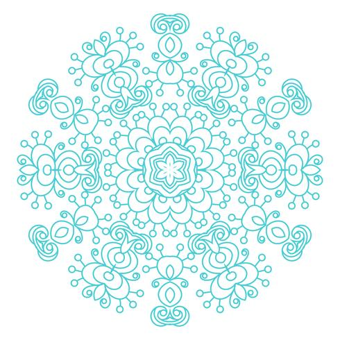 Round ornament vintage floral esoteric mandala.  vector